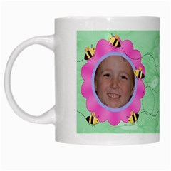 Grandma s Sweet Honey Bees Mug Green 3 By Chere s Creations   White Mug   Ueyygu2mfnzi   Www Artscow Com Left
