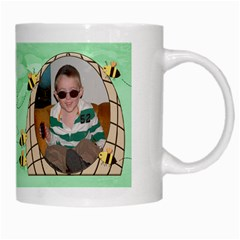 Grandma s Sweet Honey Bees Mug Green 3 By Chere s Creations   White Mug   Ueyygu2mfnzi   Www Artscow Com Right