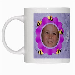 Grandma s Sweet Honey Bees Mug Purple 3 By Chere s Creations   White Mug   Rex9yu611g7t   Www Artscow Com Left