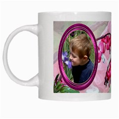 Bleeding Heart Mug Pink By Chere s Creations   White Mug   Bre0p272n7iq   Www Artscow Com Left