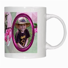 Bleeding Heart Mug Pink By Chere s Creations   White Mug   Bre0p272n7iq   Www Artscow Com Right