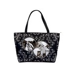 Elegant Black & Silver Shoulder Handbag - Classic Shoulder Handbag