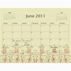 Calendar Eliza By Damaris   Wall Calendar 11  X 8 5  (12 Months)   802bjewdnfi1   Www Artscow Com Jun 2011