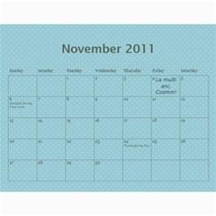 Calendar Eliza By Damaris   Wall Calendar 11  X 8 5  (12 Months)   802bjewdnfi1   Www Artscow Com Nov 2011