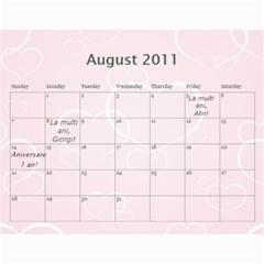 Calendar Eliza Var Finala By Damaris   Wall Calendar 11  X 8 5  (12 Months)   C4b58nshr7gp   Www Artscow Com Aug 2011