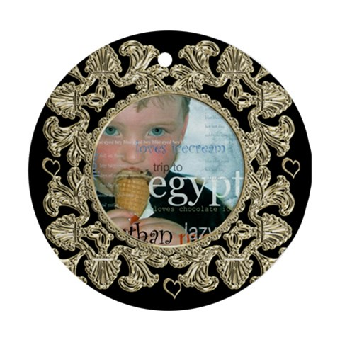 Liquid Gold Round Ornament By Catvinnat   Ornament (round)   K8041wy9eoal   Www Artscow Com Front