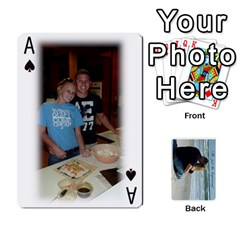 Ace Carlie And Jaramie Playing Cards By Doug Trimble   Playing Cards 54 Designs   X3yel3w17k9x   Www Artscow Com Front - SpadeA