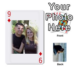 Carlie And Jaramie Playing Cards By Doug Trimble   Playing Cards 54 Designs   X3yel3w17k9x   Www Artscow Com Front - Diamond9
