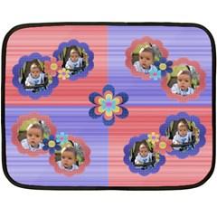 My Flowers By Daniela   Double Sided Fleece Blanket (mini)   Hfdrhyz26wrz   Www Artscow Com 35 x27 Blanket Front