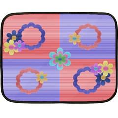 My Flowers By Daniela   Double Sided Fleece Blanket (mini)   Hfdrhyz26wrz   Www Artscow Com 35 x27 Blanket Back