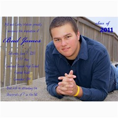Bud Watson Graduation Announcements By Lindsey Hayes   5  X 7  Photo Cards   A7ootxxfz2hb   Www Artscow Com 7 x5 Photo Card - 1