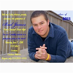 Bud Watson Graduation Announcements By Lindsey Hayes   5  X 7  Photo Cards   A7ootxxfz2hb   Www Artscow Com 7 x5 Photo Card - 2
