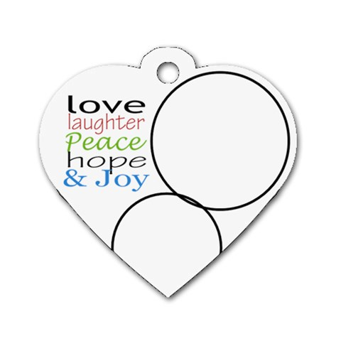 Love Laughter Heart By Amanda Bunn   Dog Tag Heart (one Side)   5jqbib66is2k   Www Artscow Com Front