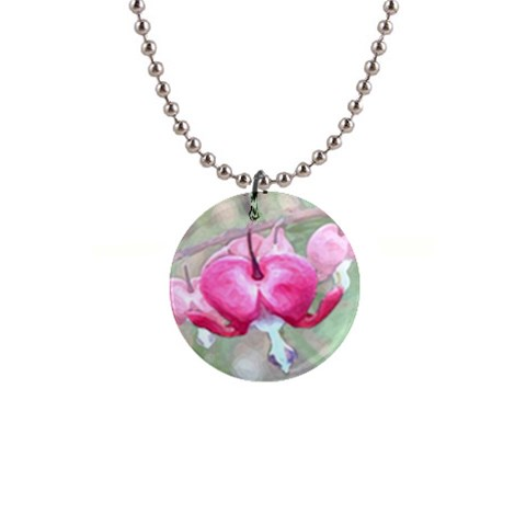 Bleeding Heart 2 By Chere s Creations   1  Button Necklace   Lmmhoxx1i8wr   Www Artscow Com Front