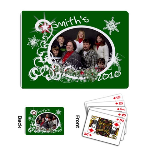 Playing Cards Single Design Template Christmas By Laurrie   Playing Cards Single Design   Lpj7sv51uwmg   Www Artscow Com Back
