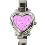 Heart Watch Pink - Heart Italian Charm Watch