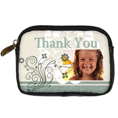 Thank You Bag By Joely   Digital Camera Leather Case   Aowp48j2wmrc   Www Artscow Com Front