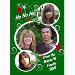 7x5 Photo Card Template Christmas - 5  x 7  Photo Cards