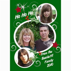 7x5 Photo Card Template Christmas By Laurrie   5  X 7  Photo Cards   Mrfc466866ei   Www Artscow Com 7 x5 Photo Card - 3