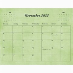 Pinky Green 2015 Calendar By Mikki   Wall Calendar 11  X 8 5  (18 Months)   Sxom74hcx8nr   Www Artscow Com Nov 2018