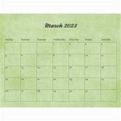 Pinky Green 2015 Calendar By Mikki   Wall Calendar 11  X 8 5  (18 Months)   Sxom74hcx8nr   Www Artscow Com Mar 2018