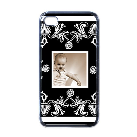 Art Nouveau Classic Black & White I Phone Case By Catvinnat   Apple Iphone 4 Case (black)   P5nv5qsixjft   Www Artscow Com Front