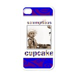 cupcake white i phone case - Apple iPhone 4 Case (White)