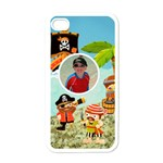 pirate pete white i phone case - Apple iPhone 4 Case (White)