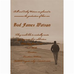 Bud Watson Graduation Announcement By Lindsey Hayes   5  X 7  Photo Cards   Mqmofkvedbpe   Www Artscow Com 7 x5 Photo Card - 9