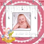 Catvinnat s Baby Girl Scrapbook Pages 12 x 12 - ScrapBook Page 12  x 12