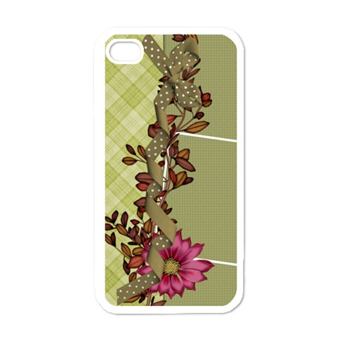 Septembers Blush Iphone Case 1 By Lisa Minor   Apple Iphone 4 Case (white)   I957w6s61u8i   Www Artscow Com Front