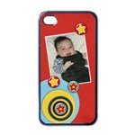 Apple iPhone 4 Case (Black)- Circles and Stars