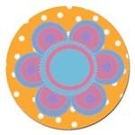 Flower frame - 5  magnet - Magnet 5  (Round)