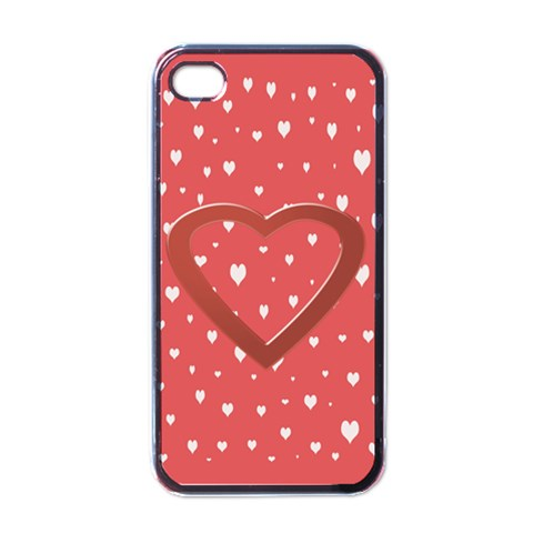 Love You Iphone Case By Daniela   Apple Iphone 4 Case (black)   81nh4r4n3svp   Www Artscow Com Front