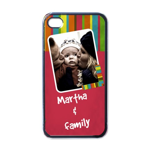 Martha And Family   I Phone Case By Carmensita   Apple Iphone 4 Case (black)   Viv6b4gbpjfi   Www Artscow Com Front