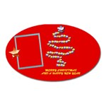 Merry Christmas wishes red - oval magnet - Magnet (Oval)