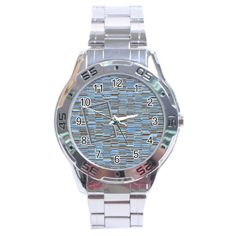 Blue Stainless Steel Watch By Daniela   Stainless Steel Analogue Watch   Oiqvzrxrrhjn   Www Artscow Com Front