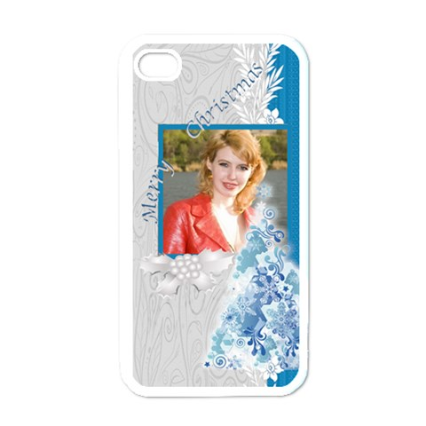 Merry Christmas By Joely   Apple Iphone 4 Case (white)   3fxq8kc5dfq5   Www Artscow Com Front
