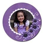 Round Mousepad- Violet Kiss