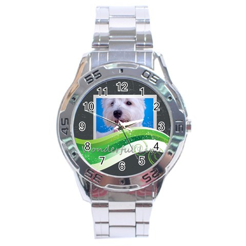 Wonderful By Joely   Stainless Steel Analogue Watch   Ewttq81doi27   Www Artscow Com Front
