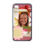 xmas - Apple iPhone 4 Case (Black)