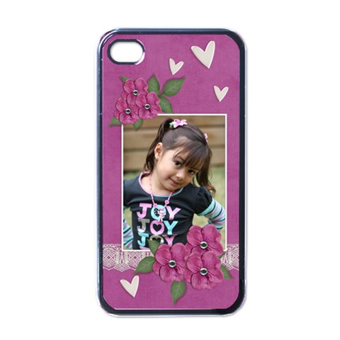 Apple Iphone 4 Case (black)    I Love You By Jennyl   Apple Iphone 4 Case (black)   Ihpe7t4pkgce   Www Artscow Com Front