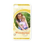 wonderful - Apple iPhone 4 Case (White)
