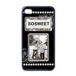 So Sweet Apple iphone Case - Apple iPhone 4 Case (Black)