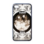 Art Nouveau oreo cookie sweet love i phone cover - Apple iPhone 4 Case (Black)