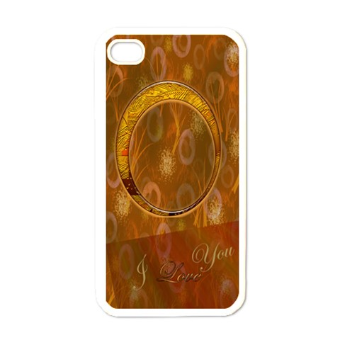 I Love You Gold Heart I Phone Case By Ellan   Apple Iphone 4 Case (white)   Yiyn1envsgzd   Www Artscow Com Front
