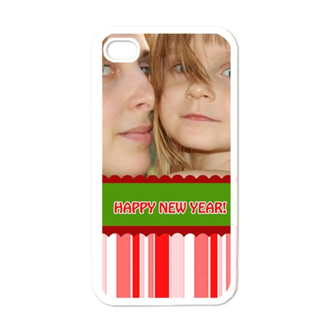 Happy New Year By Wood Johnson   Apple Iphone 4 Case (white)   Nlaei0ejfeab   Www Artscow Com Front