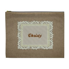 Brown & Cream Xl Cosmetic Bag Template By Laurrie   Cosmetic Bag (xl)   Hzrswftprmnx   Www Artscow Com Front