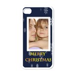 mery christmas - Apple iPhone 4 Case (White)