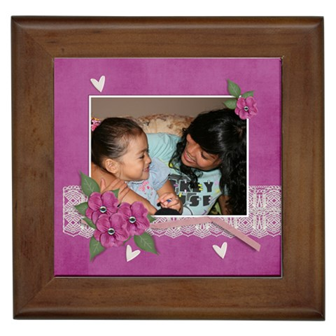 Framed Tile  Love By Jennyl   Framed Tile   1yzwzr27m3hy   Www Artscow Com Front